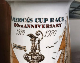 Centennial Carafe Celebrating 100 years 1870-1970 of America's Cup Races
