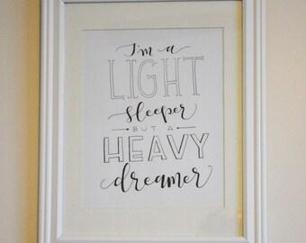 Heavy Dreamer - Print