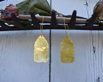 Small Hammered Paddle Earrings
