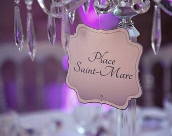 Brand-label cut hanging dinner wedding table