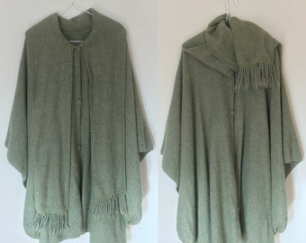 Forest Green wool Cloak