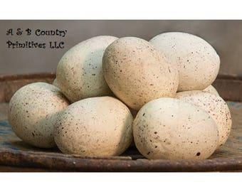 12/set Natural Speckled Styrofoam Eggs, 2 inch, Faux Eggs, Country Primitive Home Decor, Farmhouse Decor, Spring Decor