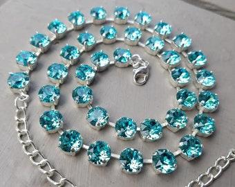 Light Turquoise Swarovski Necklace
