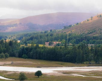 Scottish Landscape Mar Lodge Greetings Card - 178mm x 127mm