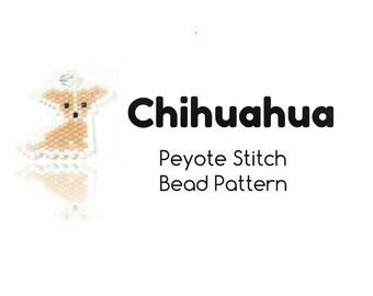 Chihuahua Pattern, Peyote / Brick Stitch Bead Weaving, Jewelry Crafts  | INSTANT DOWNLOAD
