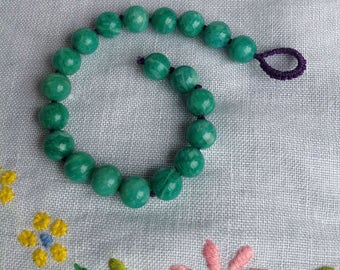 Russian Amazonite Knotted Bracelet