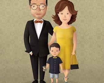 Custom Portrait. Personalized illustration.