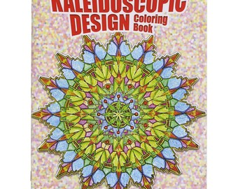 Kaleidoscopic Mosaic Design Adult Coloring Book-Dover Publications- FREE SHIPPING! - Great Gift