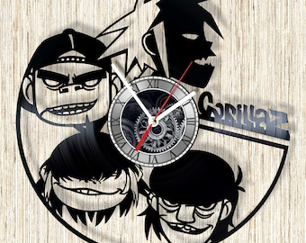Gorillaz vinyl record wall clock unique home decor and wonderful gift idea