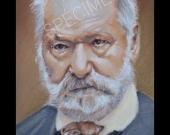 Portrait of Victor Hugo, printed in poster on glossy paper.