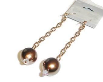 Coppery Pearl Dangle earrings