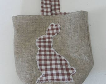 Basket of Easter and applied Brown gingham