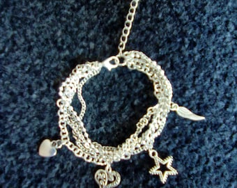 Beautiful Multi Chain & Charm Bracelet