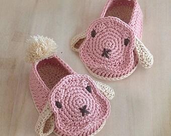 Crochet Baby Pattern Rabbit Baby Booties Baby Rabbit Shoes Crochet Bunny Sneakers Newborn Rabbit Shoes Lop Baby Booties Baby Bunny Booties