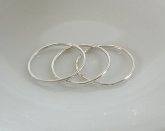 1 Sterling Silver Midi Nuckle Ring, stacking skinnies thin skinny stacker rings knuckle