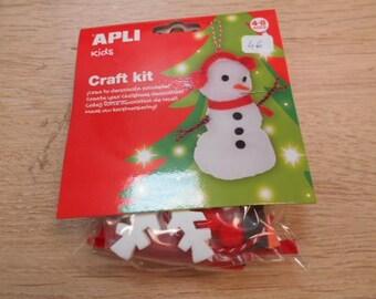 1 kit een sneeuwpop maken