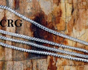 """36"""" SILVER PLATED 1mm Rope/Snake Chain Necklace with S-Hook Clasp (CH126)"""