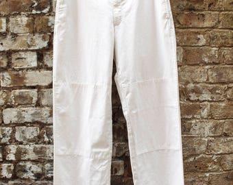 Prada White Trousers W36
