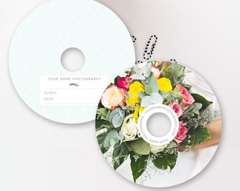 Wedding Photographer Templates, Photo DVD Templates (digital PSD files), Photoshop PSD Template - Instant Download