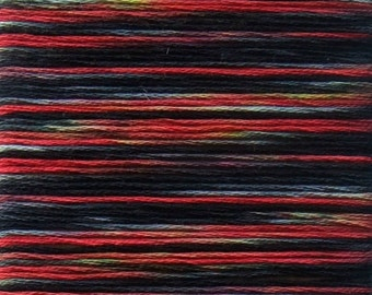 Harley Hand Dyed Cotton Embroidery Thread, Red, Black & Yellow Floss