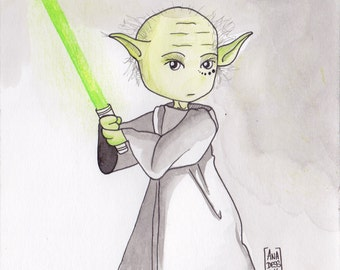 Ana Des in Yoda - Illustration (ON COMMAND)