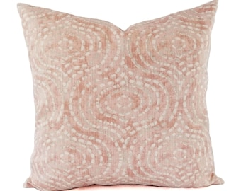 Two Blush Pink Pillow Covers - Decorative Pillow Covers - Modern Pillow Cover - Custom Pillow Sham - Geometric Pillow - Nursery Pillow Baby
