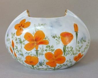 Orange California Poppy Vase