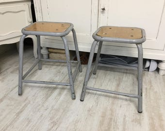 Ancient stools, industrial chic, shabby, vintage