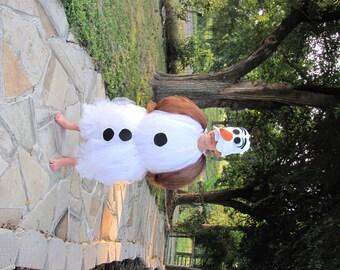 Olaf Costume, Olaf, snowman costume, olaf snowman costume, frozen costume