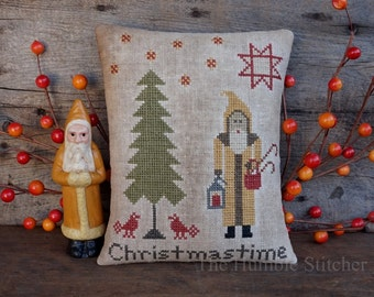 Christmastime...Primitive PAPER Cross Stitch Pattern By The Humble Stitcher