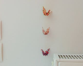 Garland of 10 Bell with origami paper cranes