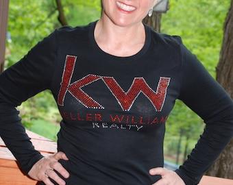 Keller Williams   rhinestone  bling  shirt,  all sizes XS, S, M, L, XL, XXL, 1X, 2X, 3X, 4X, 5X bold font
