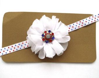 Patriotic Headband - Red White and Blue Headband