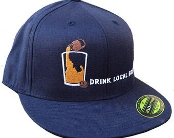 Idaho Local Brew Flat Bill Hat -BANANA ink