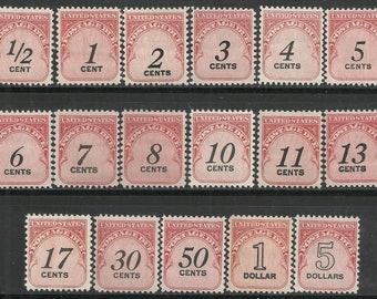 US POSTAGE DUE J88-104 1959-1970's