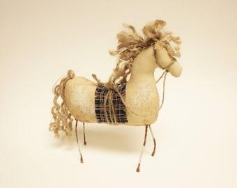 Primitive Pinto Horse, Barnyard Animals, Country Farmhouse Decor, Folk Art Horses