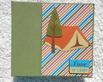 6x6 Camping Scrapbook Photo Album