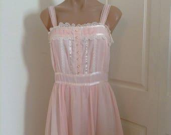 Vintage Gunne Sax Dress Pink lace Wedding Kawaii Boho Festival