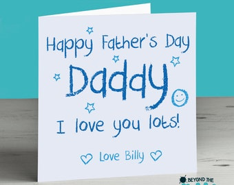 personalised Daddy Father's Day Card - Cute card for Dad