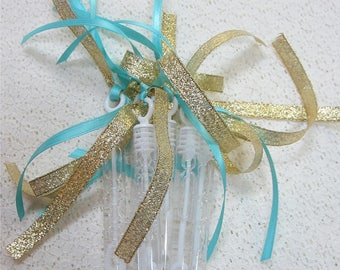 40 Wedding Bubble Wands Double ribbon