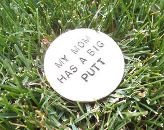 Mother's Day Gift to Mom from Kids Funny Golf Gift Wife Customized Ballmarker for Mom Birthday Gift to Mom from Son Humorous Gifts to Golfer