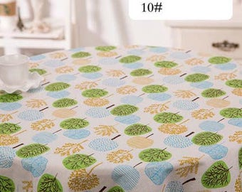 1 x coupon 50x145cm trees print pattern pure linen fabric