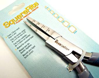 SquareRite Pliers, Square Loop Pliers, Pre-Marked Pliers, 2-8mm Square Loops, Looping Pliers, BeadSmith Pliers, Wirework Plier, UK Seller