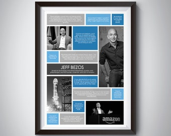 Jeff Bezos Quote Print; Digital Download; inspiration quote poster for motivation and success