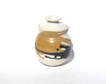 Garlic Keeper Storage Jar - Calico Glaze