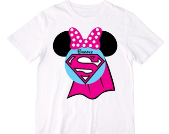 Personalized Superwoman Mouse Ears Shirt or Bodysuit - Personalized with ANY name!