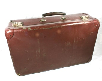 Small Children Suitcase Old Brown Suitcase Made in England Cheney Photo Prop