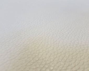 White Italian Leather hide 1.6mm thick 1.9m2