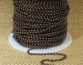 2.0mm Ball Chain - Antique Copper - CH110-AC - Choose Your Length