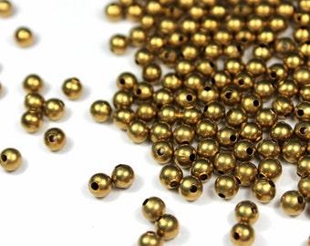 4mm Brass Beads / Round Brass Beads